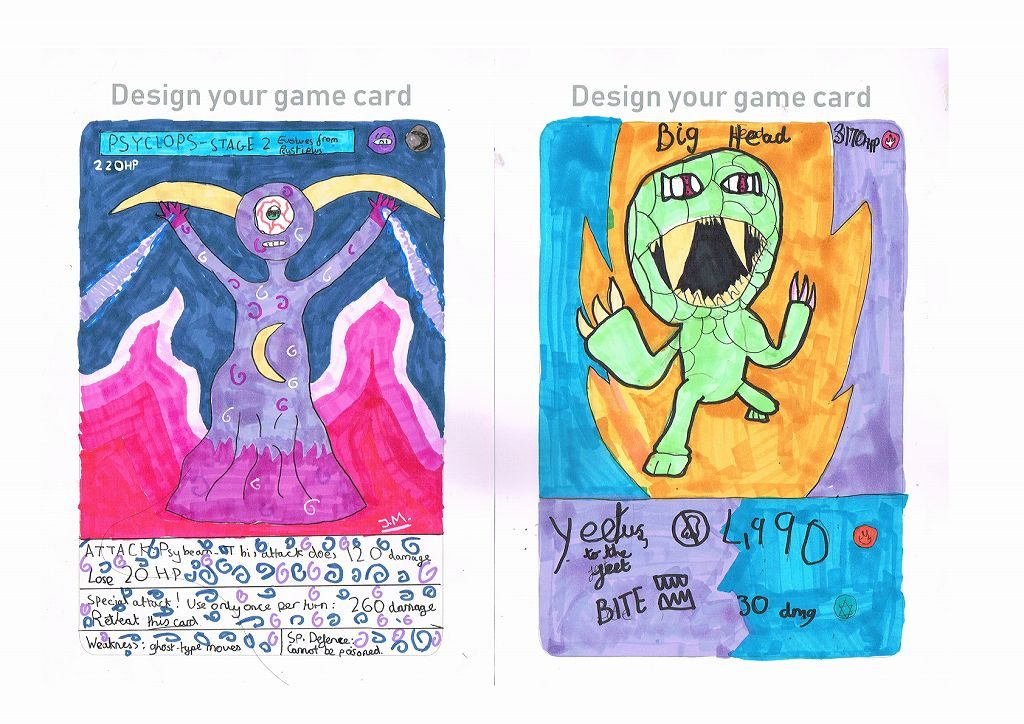 Let's make a monster card / bookmark